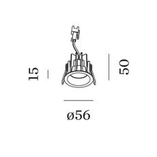 Deep bijou ip65 1 0 led studio wever ducre spot encastrable recessed light  wever et ducre 165361w3  design signed nedgis 118621 thumb