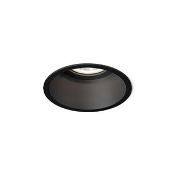 Spot encastrable deeper 1 0 led noir led 3000k 550 740lm o8 5cm h9 5cm wever ducre normal