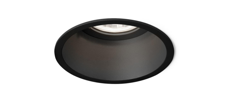 Spot encastrable deeper 1 0 par16 noir o8 5cm h11 2cm wever ducre normal