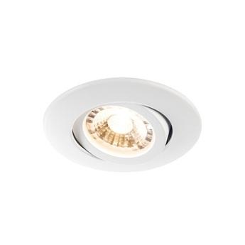 Spot encastrable easy install slim led blanc led ip44 3000k 480llm o8 7cm h3 9cm slv normal
