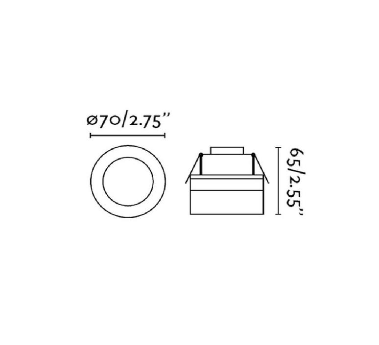 Hyde estudi ribaudi spot encastrable recessed light  faro 40116  design signed nedgis 72317 product
