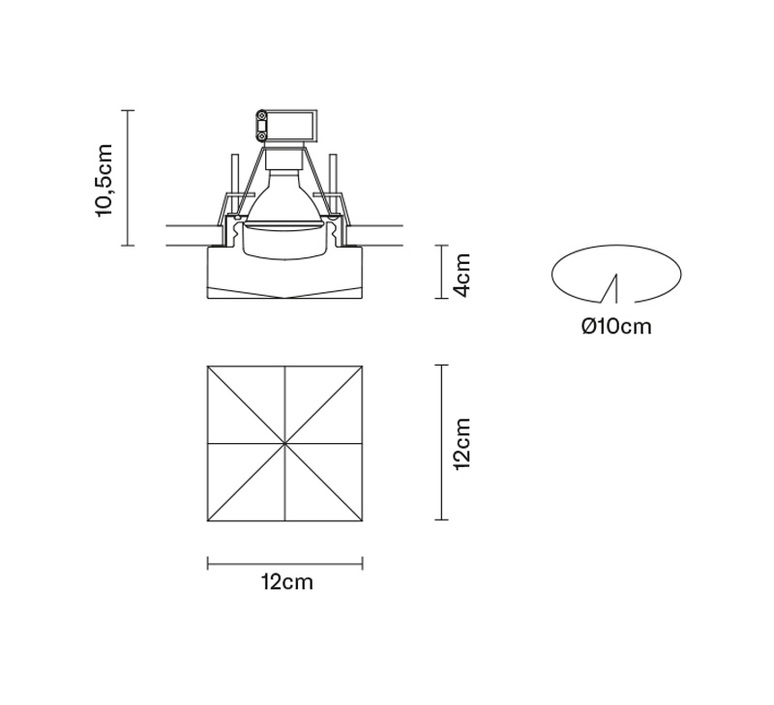Faretti d27 cindy pamio design spot encastrable recessed light  fabbian d27f49 01  design signed 40059 product