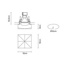 Faretti d27 cindy pamio design spot encastrable recessed light  fabbian d27f49 01  design signed 40059 thumb