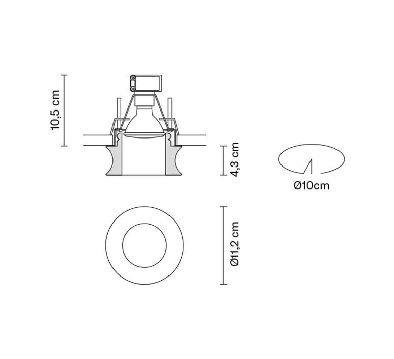 Faretti d27 eli pamio design spot encastrable recessed light  fabbian d27f54 00  design signed 40062 product