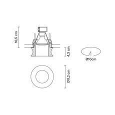 Faretti d27 eli pamio design spot encastrable recessed light  fabbian d27f54 00  design signed 40062 thumb