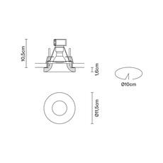 Faretti d27 lazar pamio design spot encastrable recessed light  fabbian d27f35 01  design signed 40070 thumb