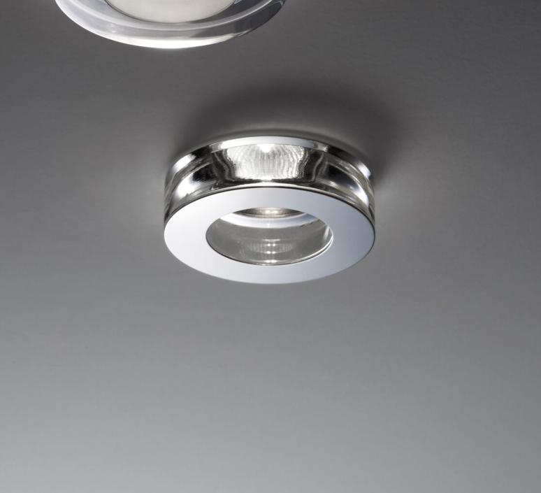 Faretti Spot Led.Recessed Light Faretti D27 Lei Stainless Steel Led O11 5cm H3cm Fabbian