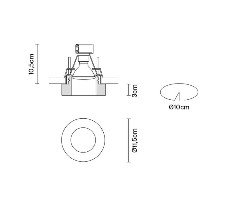 Faretti d27 lei pamio design spot encastrable recessed light  fabbian d27f43 00  design signed 40073 product