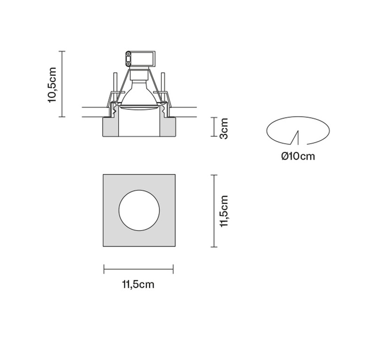 Faretti d27 lui pamio design spot encastrable recessed light  fabbian d27f40 35  design signed 40081 product