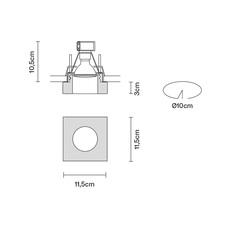 Faretti d27 lui pamio design spot encastrable recessed light  fabbian d27f40 35  design signed 40081 thumb