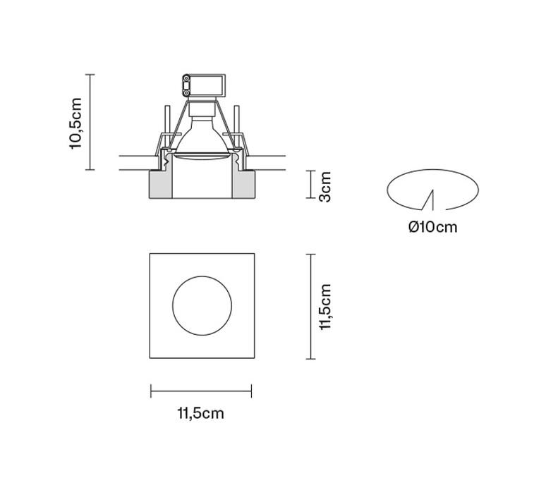 Faretti d27 lui pamio design spot encastrable recessed light  fabbian d27f39 00  design signed 40078 product