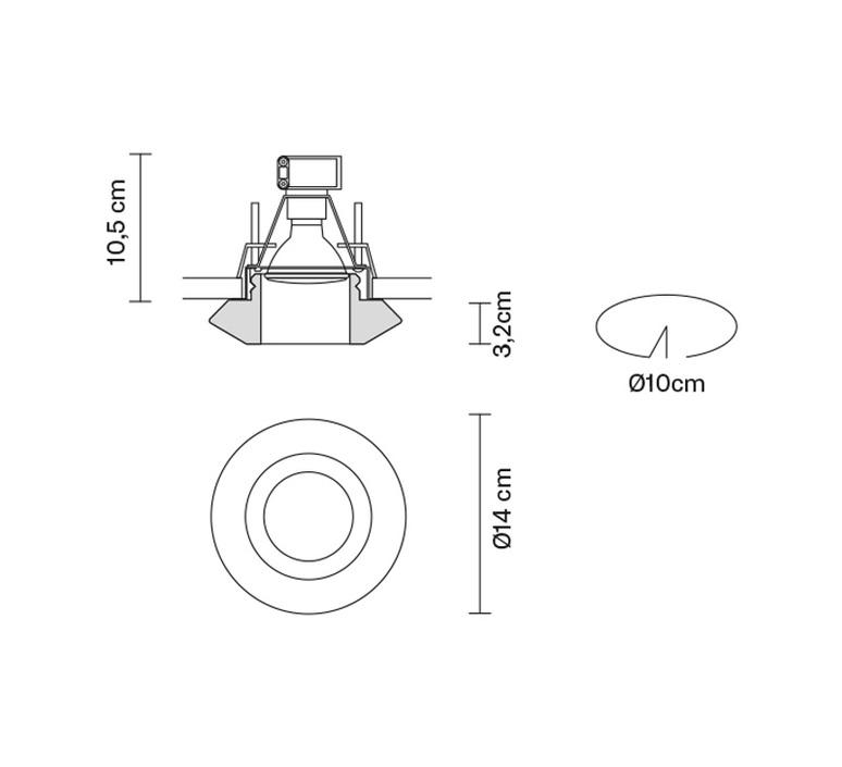 Faretti d27 rombo pamio design spot encastrable recessed light  fabbian d27f59 01  design signed 40085 product