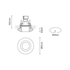 Faretti d27 rombo pamio design spot encastrable recessed light  fabbian d27f59 01  design signed 40085 thumb