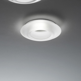 Spot encastrable faretti d27 rombo blanc led o14cm h3 2cm fabbian normal