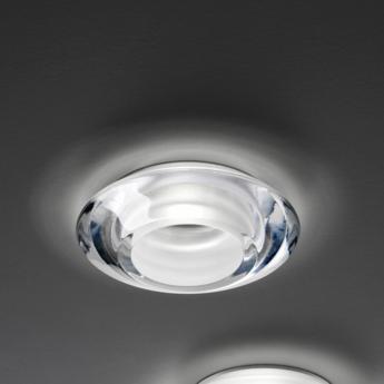 Spot encastrable faretti d27 rombo transparent led o14cm h3 2cm fabbian normal