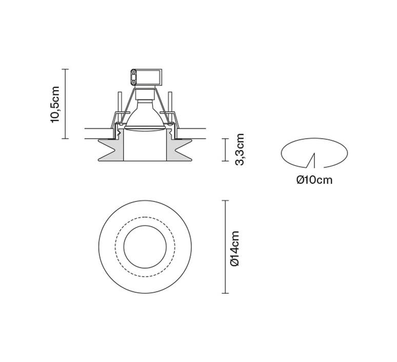 Faretti d27 shivi pamio design spot encastrable recessed light  fabbian d27f31 01  design signed 40089 product