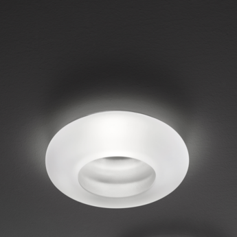 Spot encastrable faretti d27 tondo blanc led o13cm h3 5cm fabbian normal