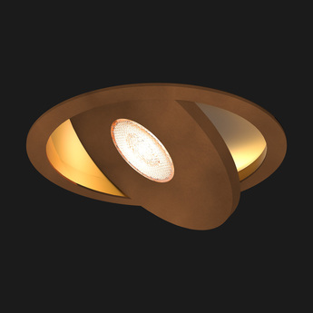 Spot encastrable flat led corten or o12cm doxis normal