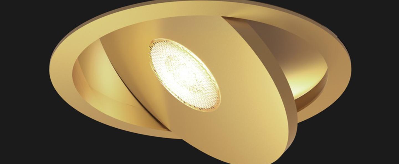Spot encastrable flat led or brosse o12cm doxis normal