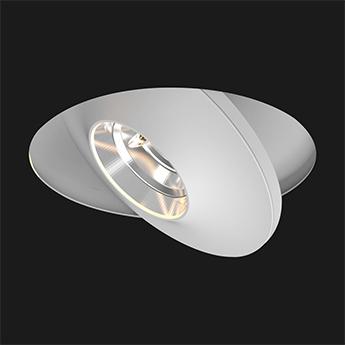 Spot encastrable flatled t2 reflector trimless 43 dali blanc led 2700k 1335lm o12cm h6cm doxis normal