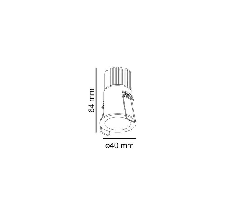 Fox estudi ribaudi spot encastrable recessed light  faro 02101001  design signed nedgis 63313 product