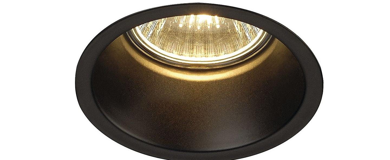 Spot encastrable horn 1 noir o8 3cm h11 5cm slv normal