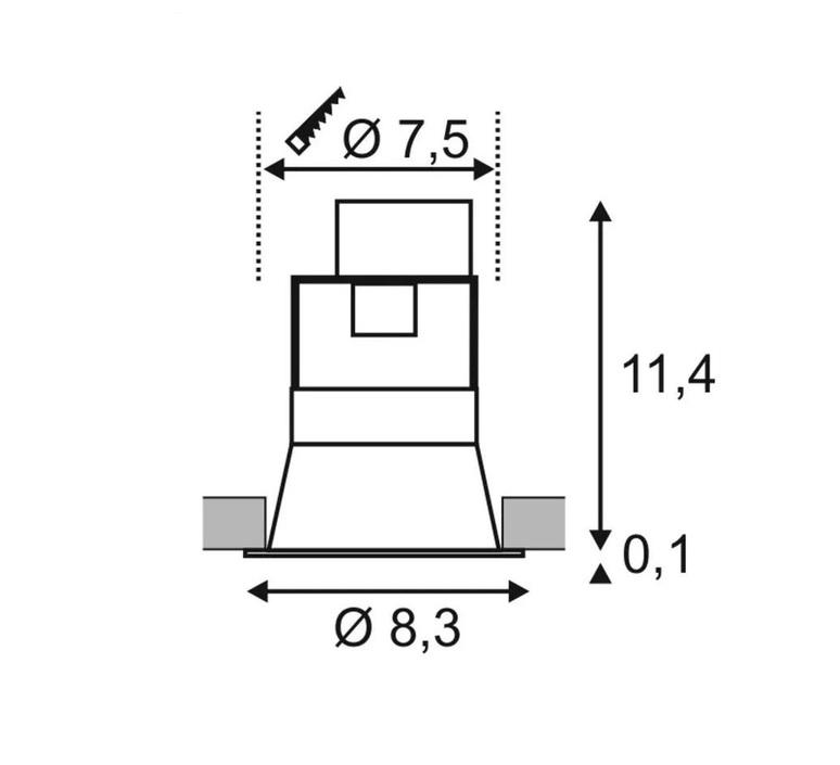 Horn 1  spot encastrable recessed light  slv 112910  design signed nedgis 63802 product