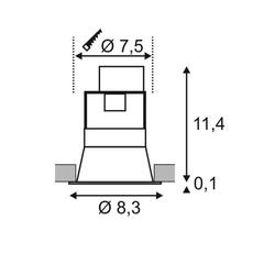 Horn 1  spot encastrable recessed light  slv 112910  design signed nedgis 63802 thumb