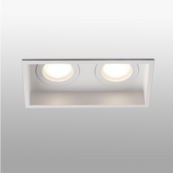 Spot encastrable hyde double ip44 blanc l17 1cm h5 5cm faro normal