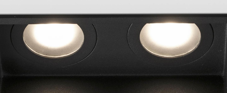 Spot encastrable hyde double ip44 noir l17 1cm h5 5cm faro normal
