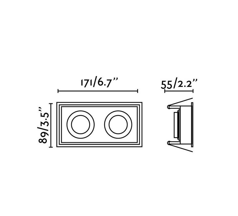 Hyde double ip44 estudi ribaudi spot encastrable recessed light  faro 40125  design signed nedgis 67938 product