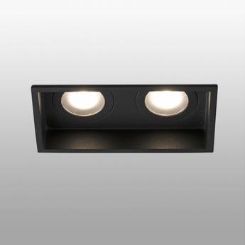 Spot encastrable hyde double ip44 noir l17 1cm h5 5cm faro normal