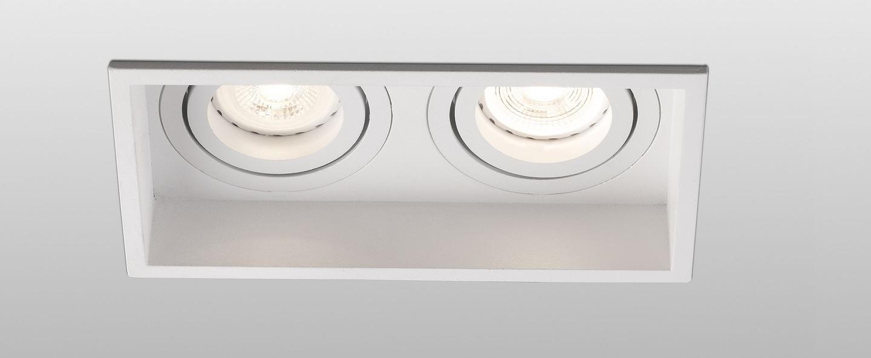 Spot encastrable hyde double orientable blanc o17 1cm h8 9cm faro normal