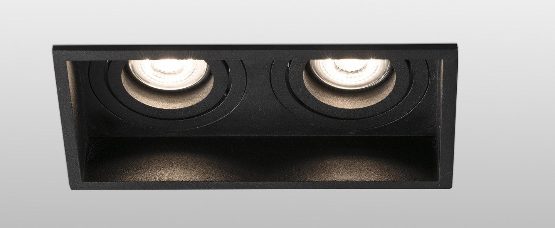 Spot encastrable hyde double orientable noir l17 1cm h8 9cm faro normal