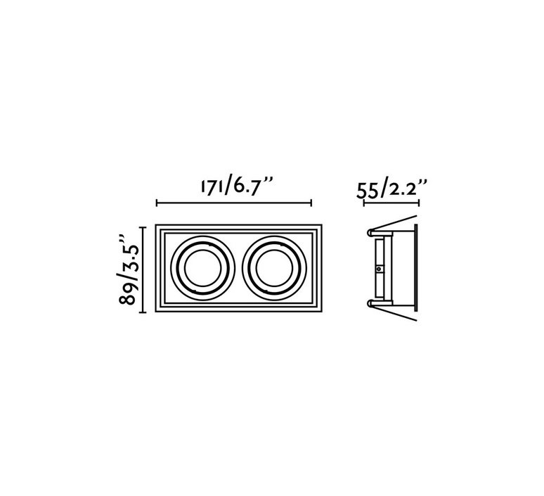 Hyde double orientable estudi ribaudi spot encastrable recessed light  faro 40127  design signed nedgis 67453 product
