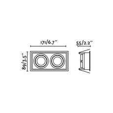 Hyde double orientable estudi ribaudi spot encastrable recessed light  faro 40127  design signed nedgis 67453 thumb