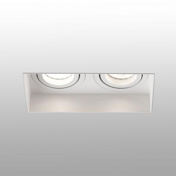Spot encastrable hyde double trimless orientable blanc l16 4cm h5 5cm faro normal