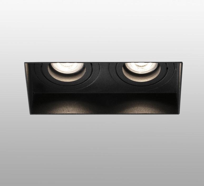 Hyde double trimless orientable estudi ribaudi spot encastrable recessed light  faro 40123  design signed nedgis 67945 product