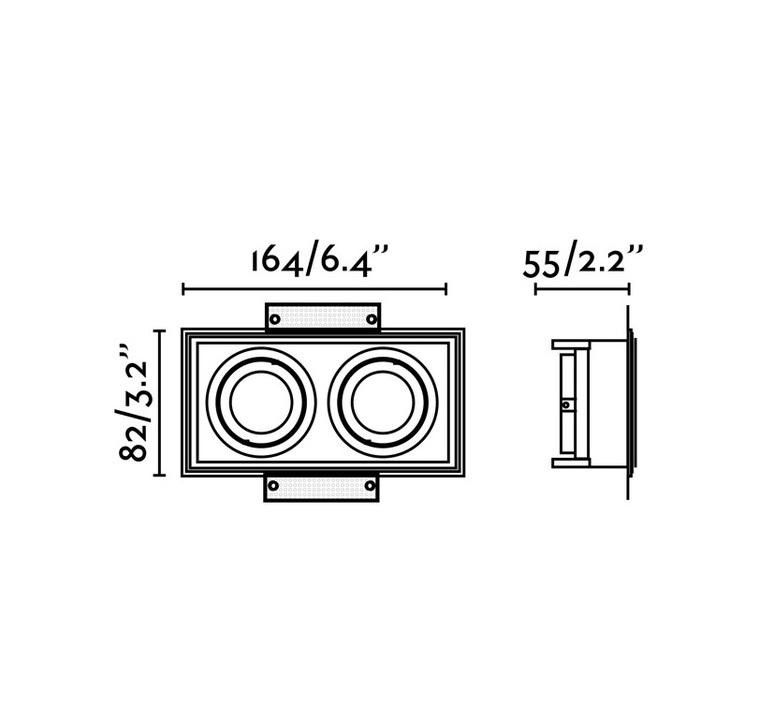 Hyde double trimless orientable estudi ribaudi spot encastrable recessed light  faro 40123  design signed nedgis 67946 product