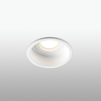 Spot encastrable hyde ip44 blanc o8 9cm h5 5cm faro normal