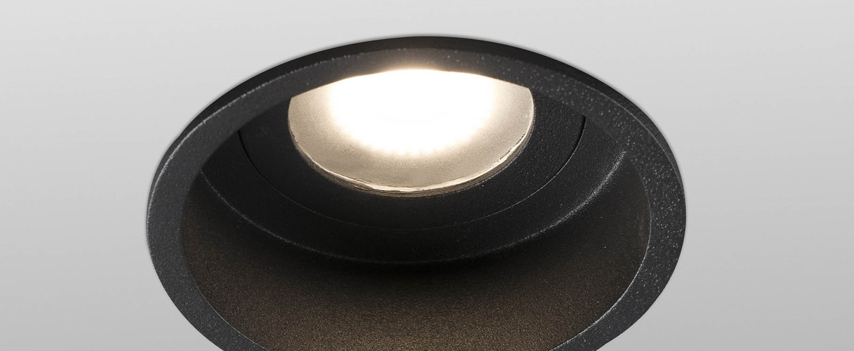 Spot encastrable hyde ip44 noir o8 9cm h5 5cm faro normal
