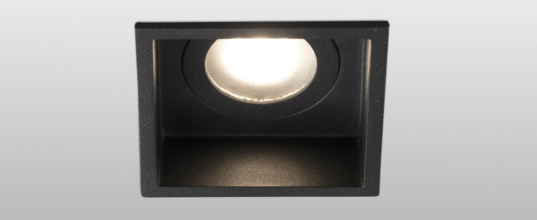 Spot encastrable hyde noir o8 9cm h5 5cm faro normal