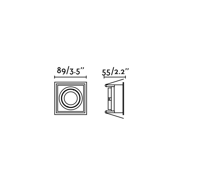 Hyde orientable estudi ribaudi spot encastrable recessed light  faro 40120  design signed nedgis 67463 product