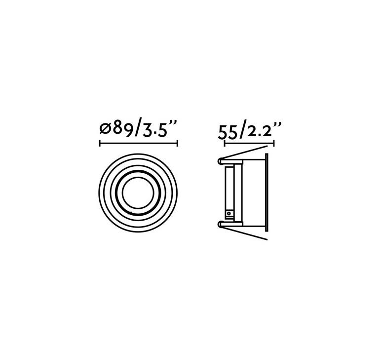 Hyde orientable estudi ribaudi spot encastrable recessed light  faro 40119  design signed nedgis 67954 product