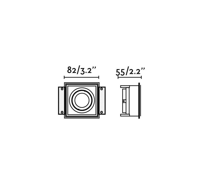 Hyde orientable estudi ribaudi spot encastrable recessed light  faro 40121  design signed nedgis 86362 product