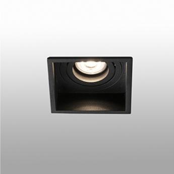 Spot encastrable hyde orientable noir o8 9cm h5 5cm faro normal
