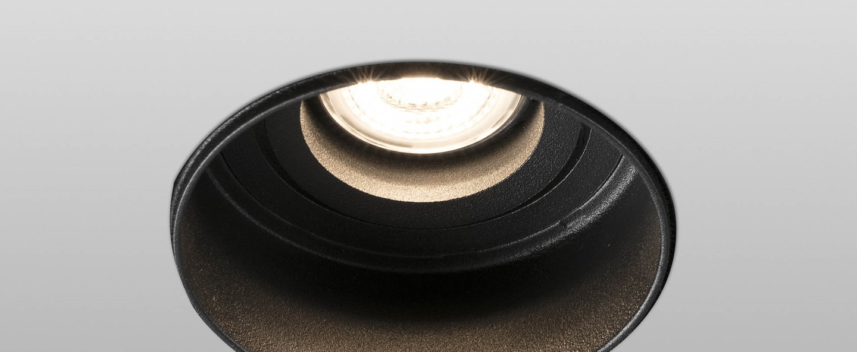 Spot encastrable hyde orientable trimless noir o8 2cm h5 5cm faro normal