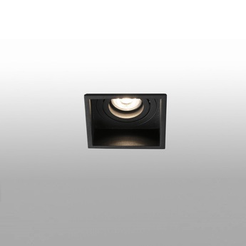 Spot encastrable hyde square orientable noir o8 9cm h5 5cm faro normal