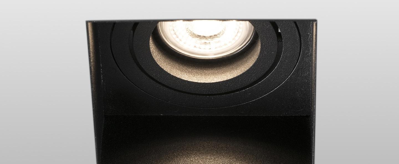 Spot encastrable hyde trimless orientable noir l8 2cm h5 5cm faro normal