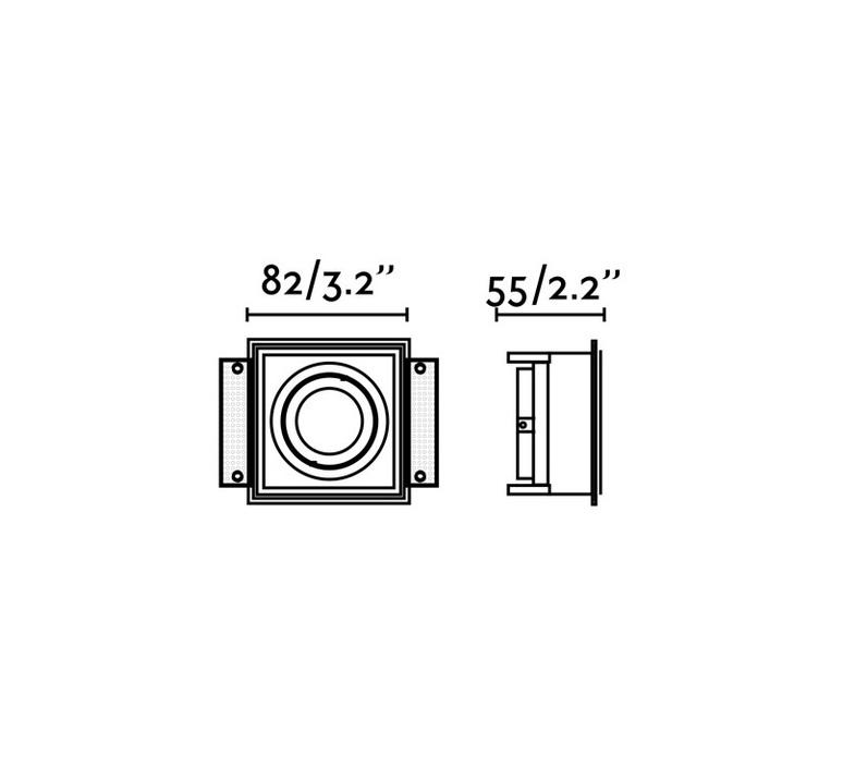 Hyde trimless orientable estudi ribaudi spot encastrable recessed light  faro 40113  design signed nedgis 67942 product